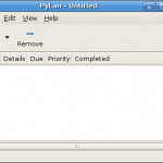 PyLan a GTD todo application written in python and PyGTK – part one